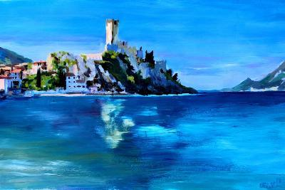 Malcesine with Castello Scaligero-Markus Bleichner-Art Print