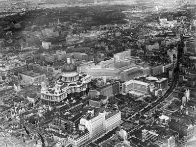 An aerial view of London showing St Pauls Cathedral, 1959 by Malcolm McNeill