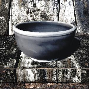 Ceramic Grey Bowl by Malcolm Sanders