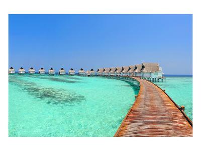 Maldive Water Villa Panorama--Art Print