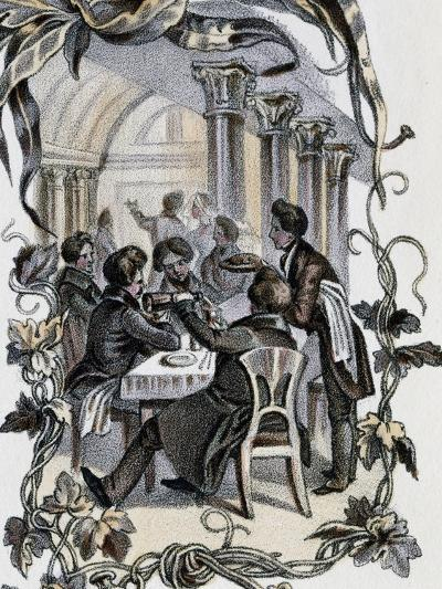 Male Characters Sitting at Table, Austria, 19th Century--Giclee Print