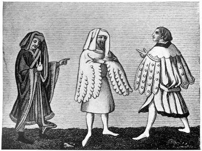 Male Dress, 14th Century--Giclee Print