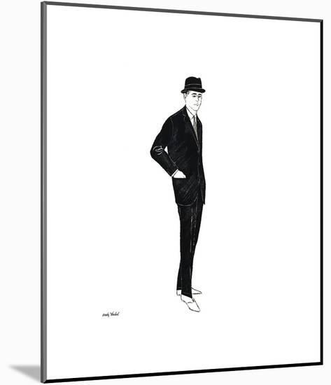 Male Fashion Figure, c. 1960-Andy Warhol-Mounted Giclee Print