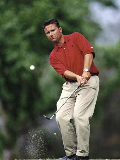 Male Golfer in Action-Chris Trotman-Photographic Print