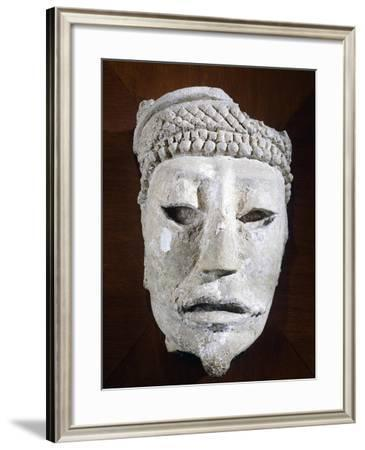 Male Head of the Classical Era Originating from Comalcalco--Framed Giclee Print
