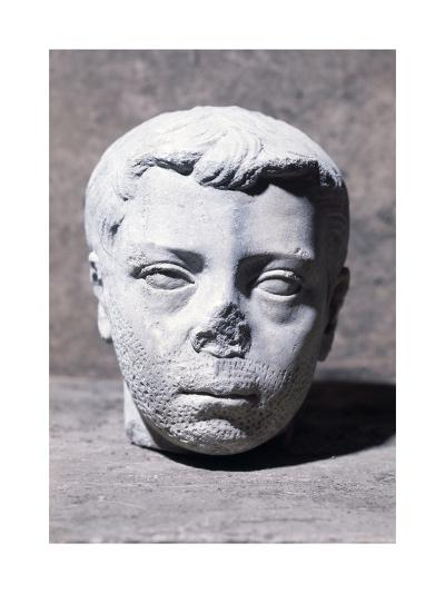 Male Head, Sculpture--Giclee Print