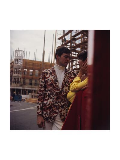 Male Model Wearing a Two-Buttoned Sport Jacket-Zachary Freyman-Premium Giclee Print