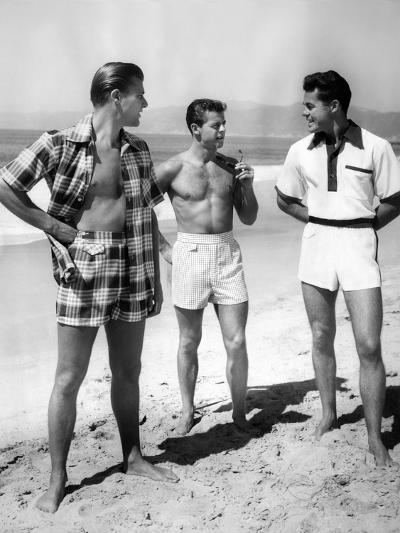 Male Models Pose in Jantzen's 1952 Men's Bathing Suits--Photo
