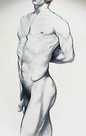 Male Nude 4-Lowell Blair Nesbitt-Limited Edition