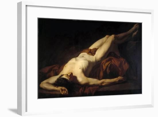 Male Nude (Hecto)-Jacques Louis David-Framed Giclee Print