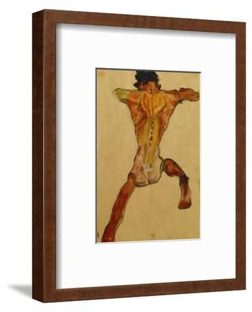 Male Nude seen from Back-Egon Schiele-Framed Premium Giclee Print