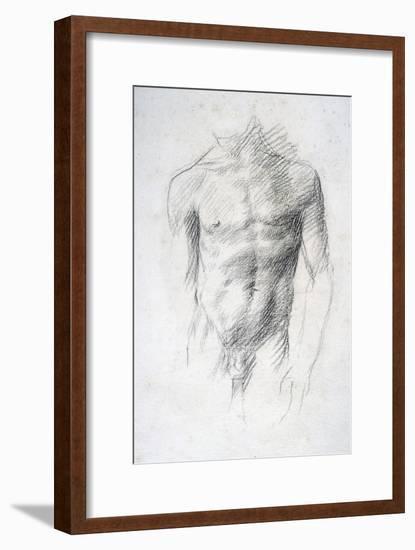 Male Nude-Alphonse Legros-Framed Giclee Print