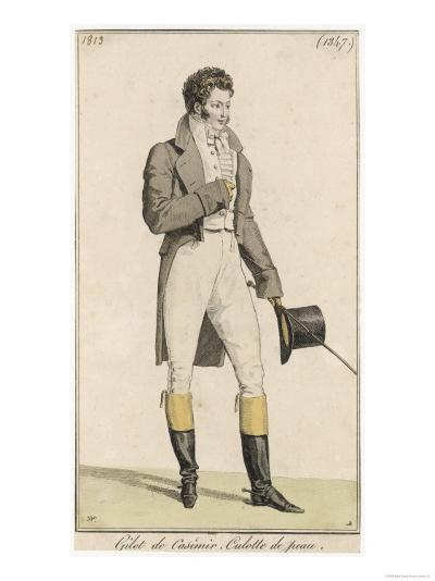 Male Riding Dress 1813--Giclee Print