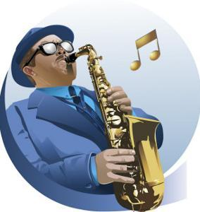 Male Saxophone Player