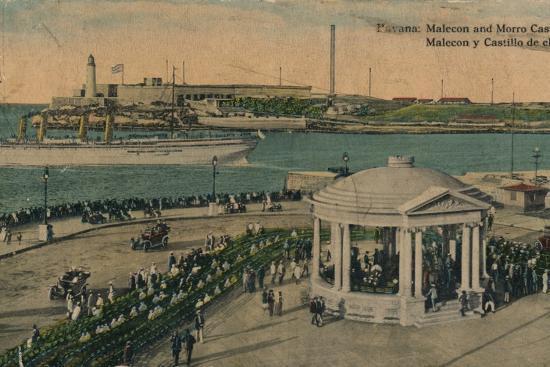 Malecon and Morro Castle, Havana, Cuba, c1920-Unknown-Photographic Print