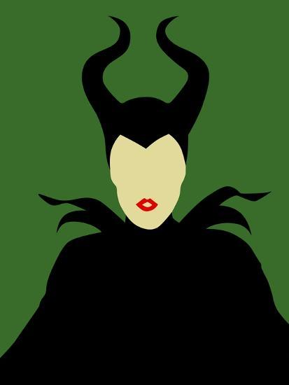 Maleficent-David Brodsky-Art Print