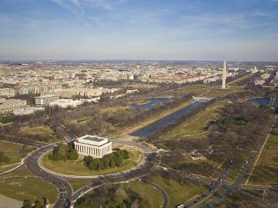 Mall, Lincoln Memorial, Washington Monument, and Reflecting Pool-Mike Theiss-Photographic Print