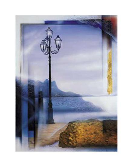 Mallorca Lamp Post-W^ Reinshagen-Art Print
