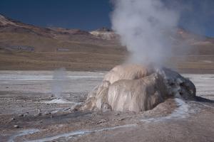 A Small Geothermal Fumarole Emitting Steam at El Tatio Geyser by Mallorie Ostrowitz