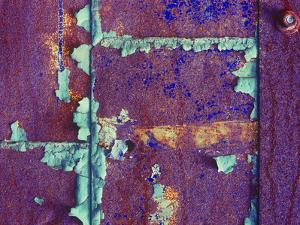 Detail of a Metal Door in an Abandoned Sweater Mill by Mallorie Ostrowitz