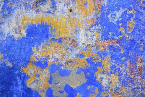 Detail of a Painted Retaining Wall on the Main Shopping Street in Obidos by Mallorie Ostrowitz