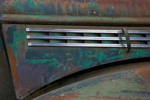 Detail of an abandoned Chevy truck, Alaska by Mallorie Ostrowitz