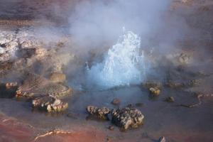 Fumarole Erupting at El Tatio Geyser in the Atacama, Chile by Mallorie Ostrowitz