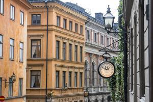 Located in the City portion of Stockholm, these buildings were shot from a staircase. by Mallorie Ostrowitz