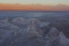 The largest salt flats in the world located in Uyuni, bolivia as the sun is rising in winter.-Mallorie Ostrowitz-Photographic Print