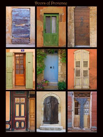 Poster of doors shot throughout Provence, France