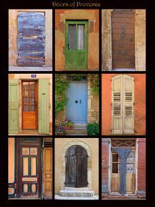 Poster of doors shot throughout Provence, France by Mallorie Ostrowitz