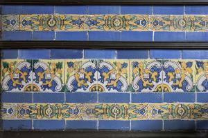 Spanish Tile in the Courtyard Balcony of Casa de Aliaga, Lima, Peru by Mallorie Ostrowitz