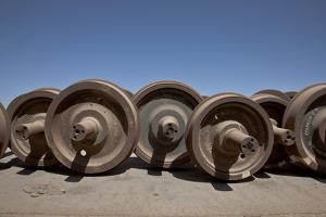The Baquedano Railway Depot, Spare Axles Found in the Depot by Mallorie Ostrowitz