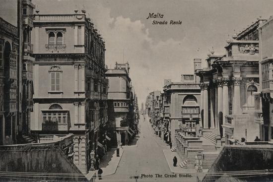 'Malta - Strada Reale', c1900-Unknown-Photographic Print