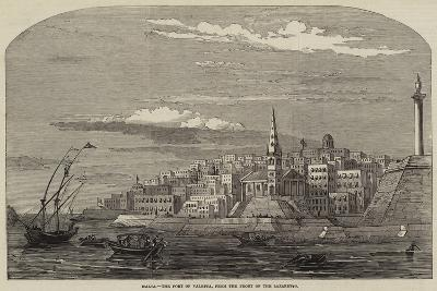 Malta, the Port of Valetta, from the Front of the Lazaretto--Giclee Print