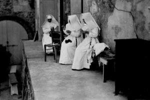 Maltese Cross Hospital. Nurses Nuns in a Moment of Relax