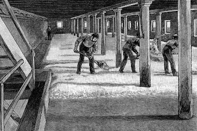 Malting Floor in an American Brewery, 1885--Giclee Print