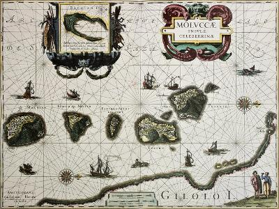 Maluku Island Old Map. Created By Willem Blaeu, Published In Amsterdam 1630-marzolino-Art Print