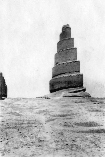 Malwiya Tower, Samarra, Mesopotamia, 1918--Giclee Print