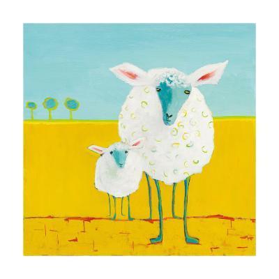 Mama and Baby Sheep-Phyllis Adams-Art Print