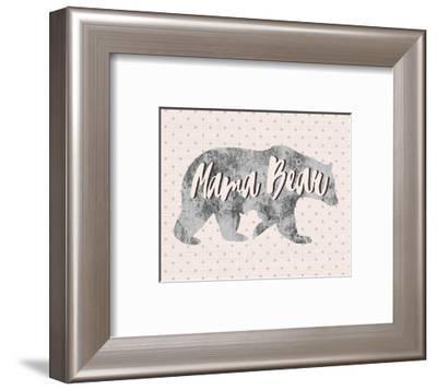 Mama Bear Silhouette-Color Me Happy-Framed Art Print