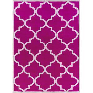 Mamba Quatra Area Rug - Hot Pink/Light Gray 5' x 8'