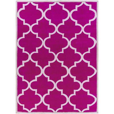 Mamba Quatra Area Rug - Hot Pink/Light Gray 8' x 11'--Home Accessories