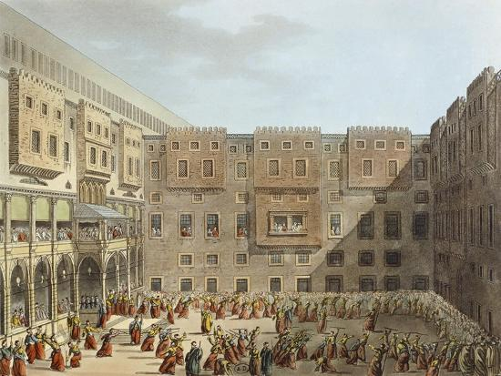 Mameluke Practice in Front of the Palace of Mourad Bey in Cairo-Luigi Mayer-Giclee Print