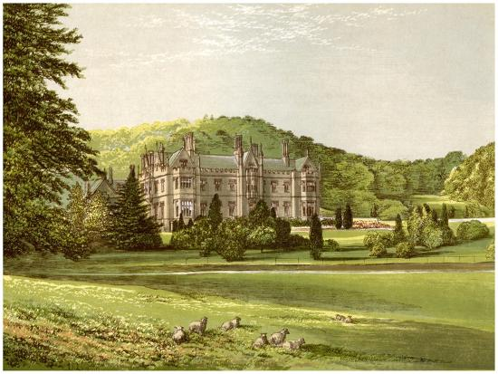 Mamhead, Devon, Home of Baronet Newman, C1880-AF Lydon-Giclee Print