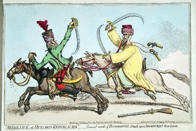 Mamlouk Et Hussard Republicain-James Gillray-Giclee Print