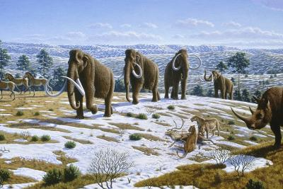 Mammals of the Pleistocene Era-Mauricio Anton-Photographic Print