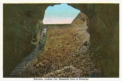 Mammoth Cave Entrance Looking Out--Art Print