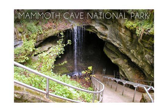 Mammoth Cave, Kentucky - Cave Entrance 1-Lantern Press-Art Print