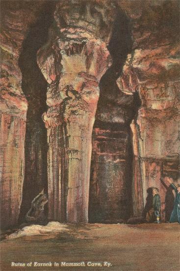 Mammoth Cave, Ruins of Karnak--Art Print